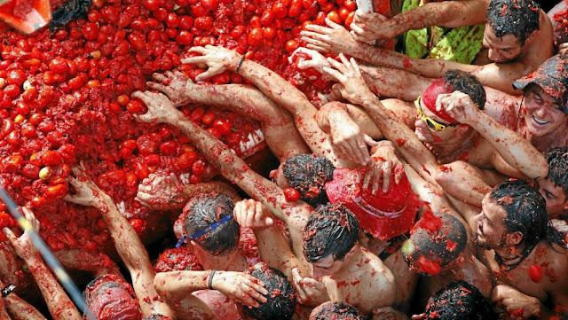 Nieves Angulo, nangulo.es, nieves-angulo.blogspot.com.es, tomatina, especies de tomates, alimento, despilfarro, hambruna, Cáritas, Cruz roja, España, Africa