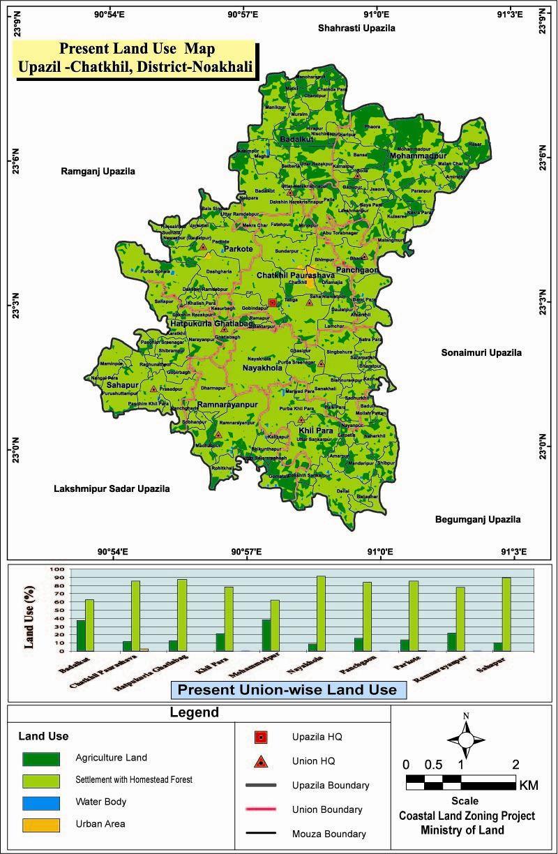 Chatkhil Upazila Mouza Map Noakhali District Bangladesh