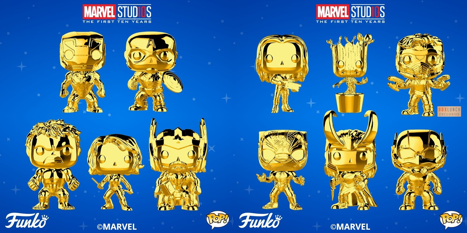 best authentic c4e45 fe2c9 Marvel Studios  The First 10 Years Gold Chrome Pop! Series 1 by Funko