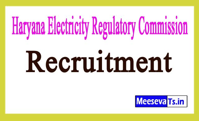 Haryana Electricity Regulatory Commission HERC Recruitment Notification