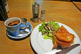 Croque monsieur at Vic's Cafe on Victoria Street, Christchurch, New Zealand