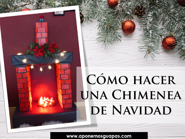 cómo hacer una chimenea de navidad de cartón