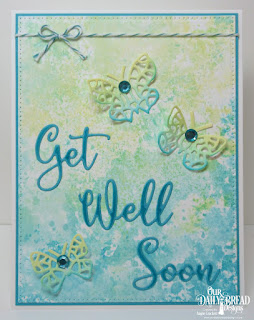 Our Daily Bread Designs Custom Dies: Get Well Soon, Bitty Butterflies, Pierced Rectangles