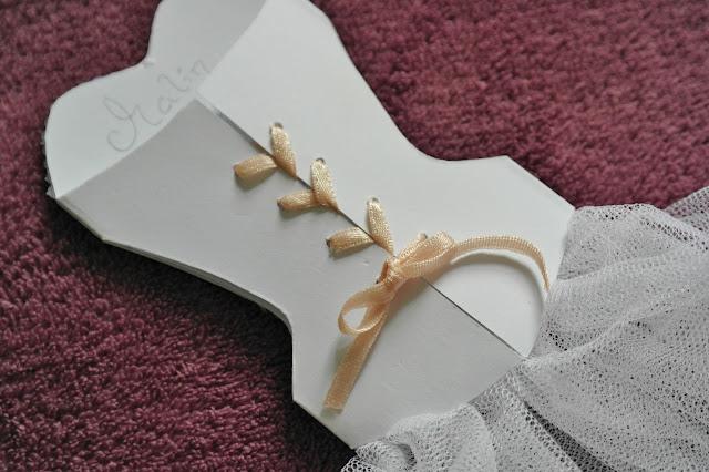 corset card invitation