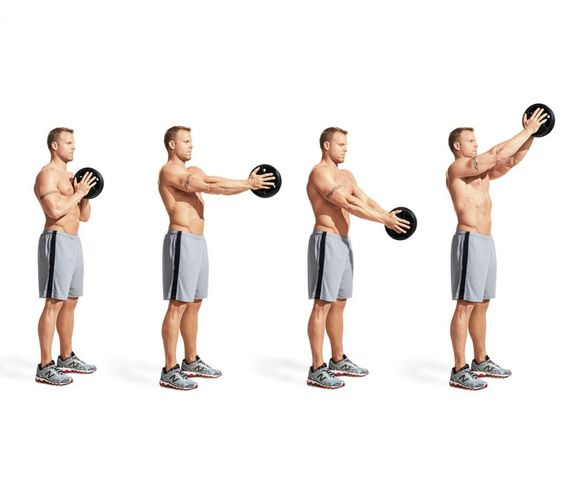 Best Chest Exercises of All Time - 30 Exercise - Plate Pressout