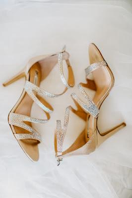 brides gold shoes