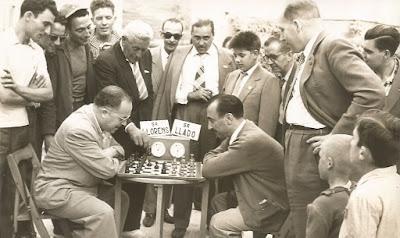 Sexta ronda del Torneo de Ajedrez de La Pobla de Lillet 1957