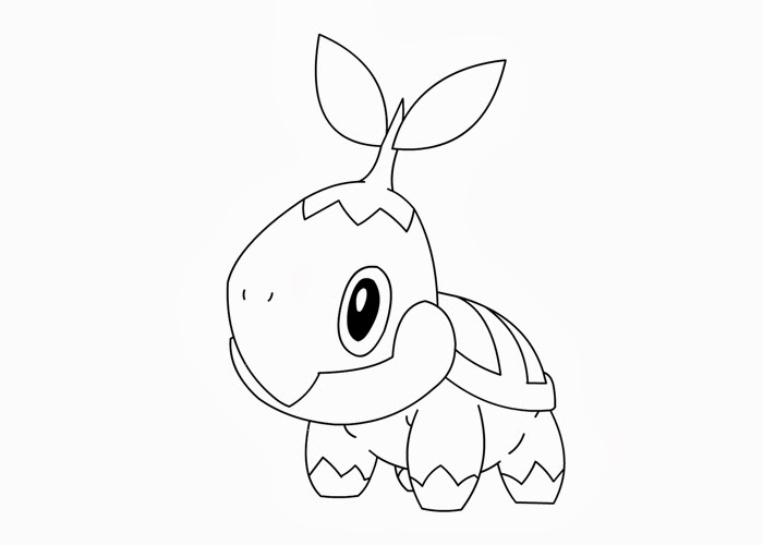 pokemon coloring pages turtwig - photo#4