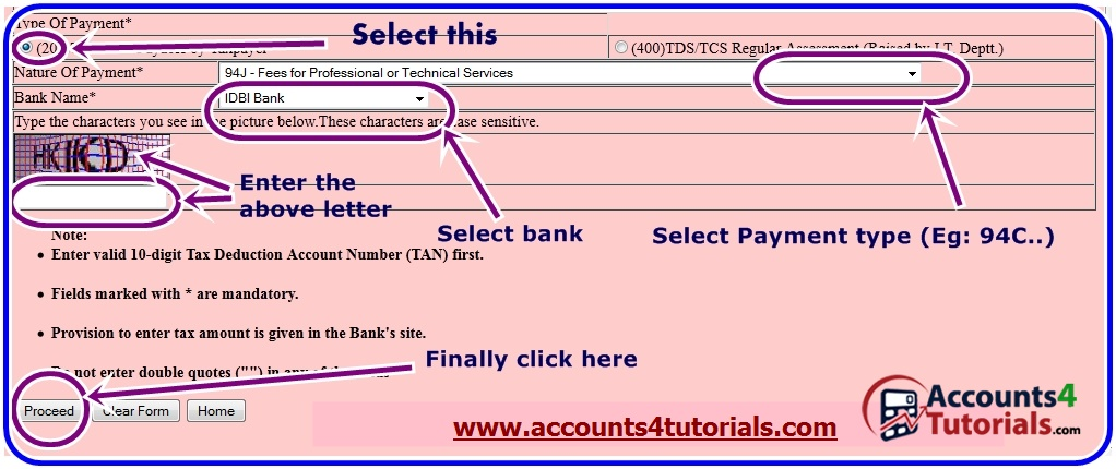 How to make TDS/TCS (CHALLAN 281) payment through Online