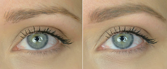 Wunderbrow - Blonde - Eyebrow product - Gel - Hair fibres - review - swatch - before and after - comparison