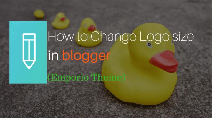 correct Logo size in blogger emporio theme