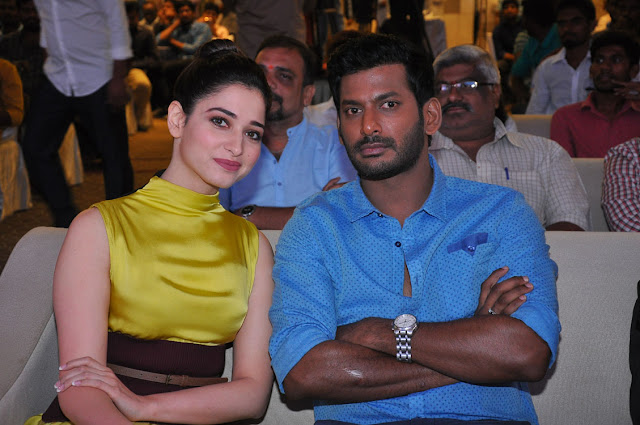 Vishal, Tamanna at Okkadochadu Telugu Movie Audio Launch