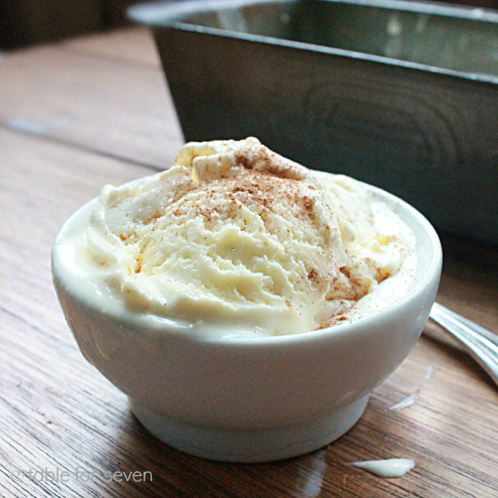 Two Ingredient Eggnog Ice Cream