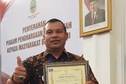 Kolonel Infanteri Yusep Sudrajat Terima Penghargaan Dari Pemerintah Pusat