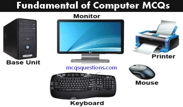 Fundamental of Computer multiple choice questions with answers