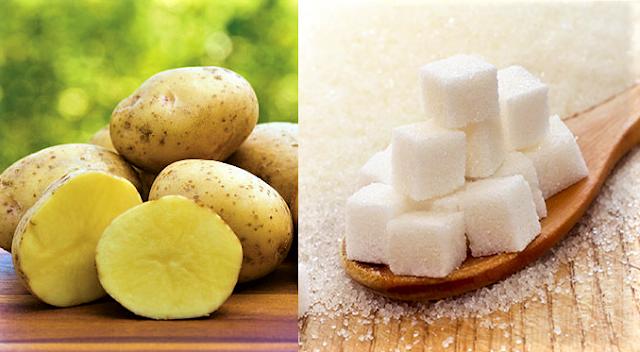 هل تعلم كم تحتوي حبة بطاطا واحدة من قطعة سكر ؟؟؟!! الجواب سيصدمك ..( تقرير عالمي جديد )