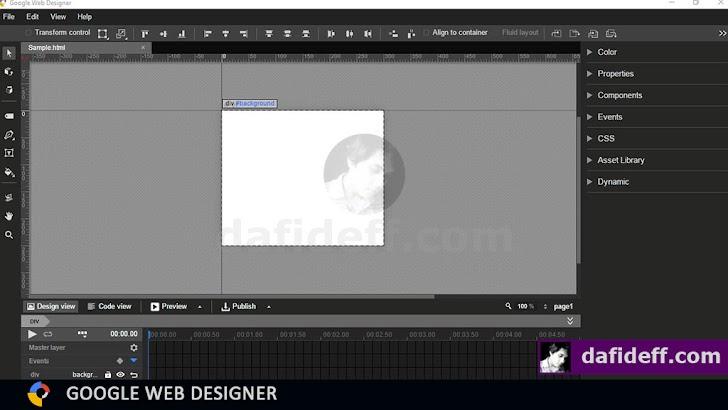 Mengenal Antarmuka Google Web Designer