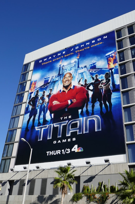 Titan Games season 1 billboard