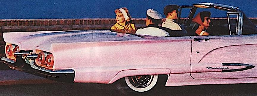 a 1959 pink Thunderbird