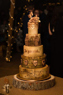 Gold Lord of The Rings LOTR Wedding Cake