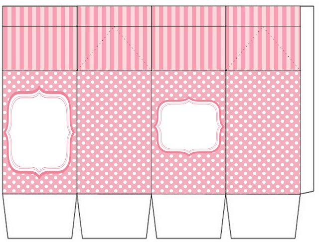 So Girly in Pink Free Printable Milk Box.