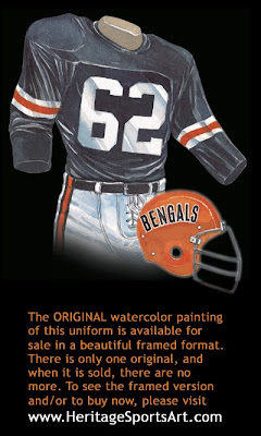 Cincinnati Bengals 1968 uniform
