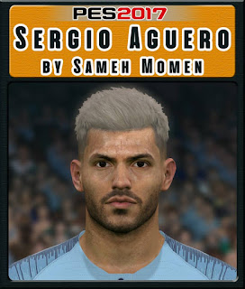 "PES 2017 Faces Sergio""Kun"" Agüero by Sameh Momen"