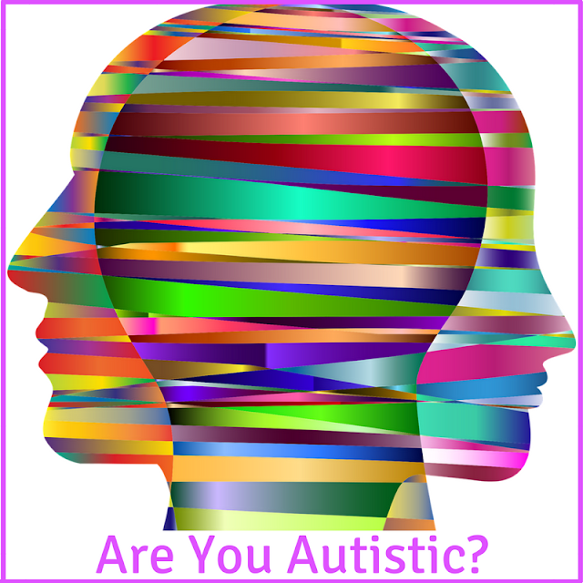 Picture of heads in rainbow colours with text question Are You Autistic?