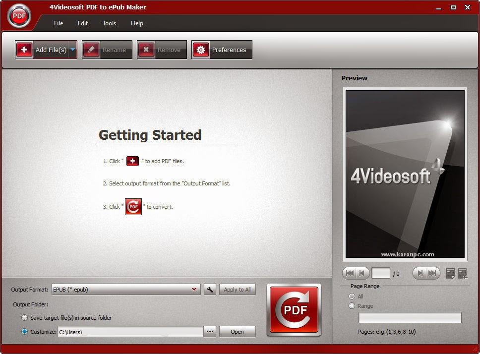 Download 4Videosoft PDF to ePub Maker Crack