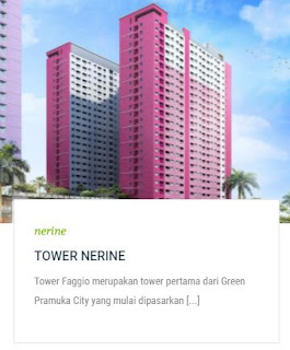 TOWER NERINE Apartemen Green Pramuka City