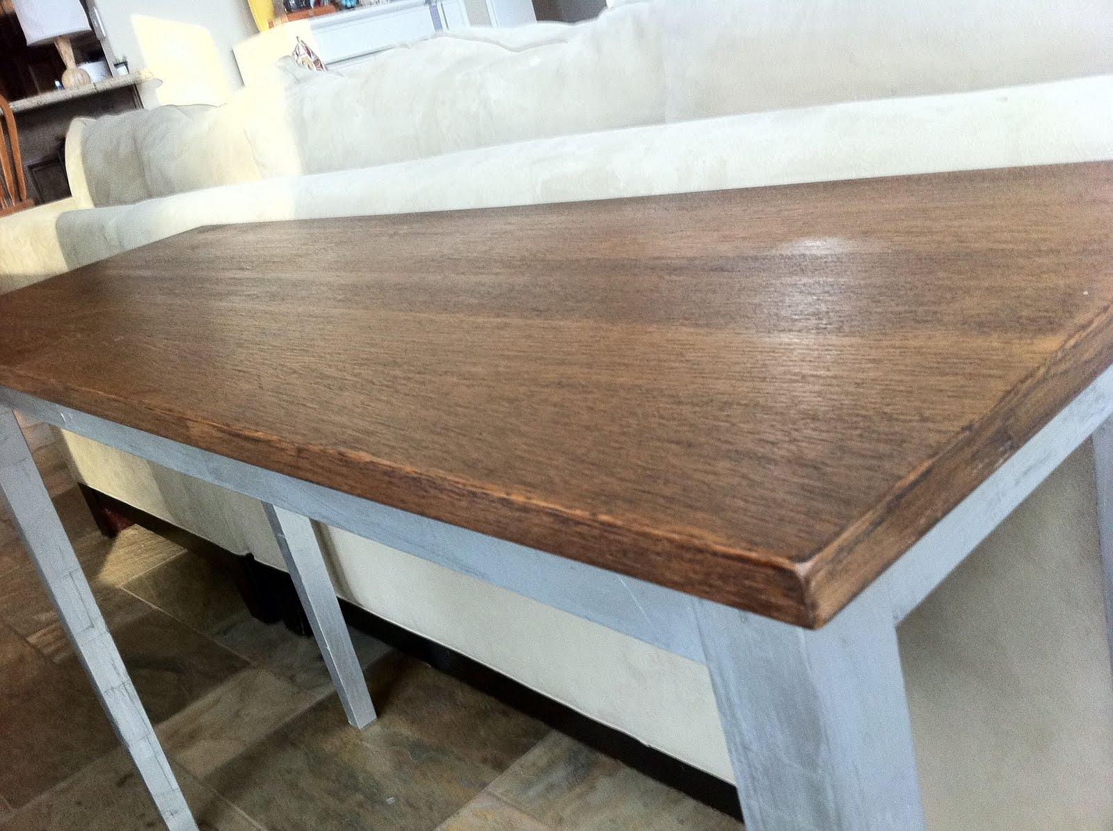 Blue Cedar Lane Foiled Sofa Table
