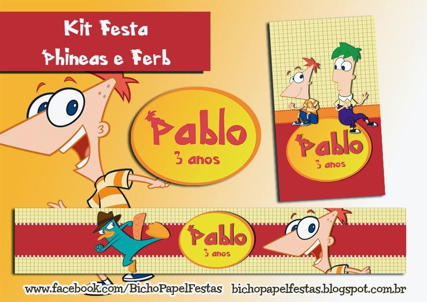 Kit Festa Phineas e Ferb