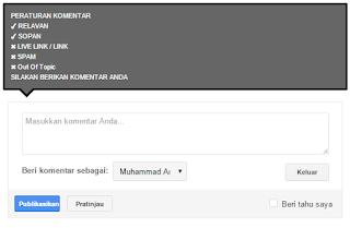 elemen kotak komentar pada blogspot