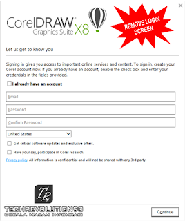 Login Screen CorelDraw