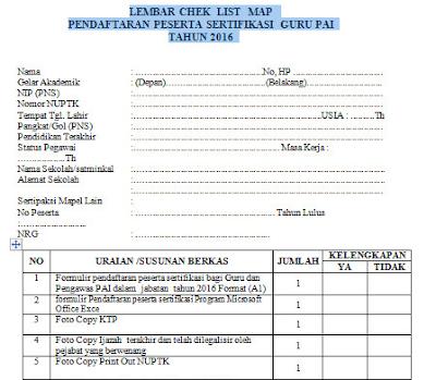 Contoh Formulir Pendaftaran Peserta