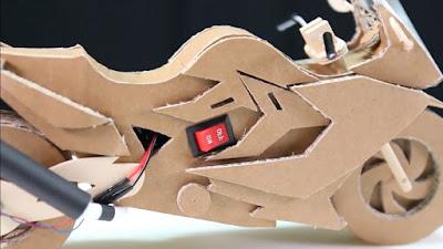 Cara Membuat Motor Mainan Dari Kardus Bekas
