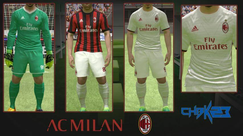 competitive price 43704 2670e A.C. Milan Kit 2017-18 - PES 2017 - PATCH PES | New Patch ...