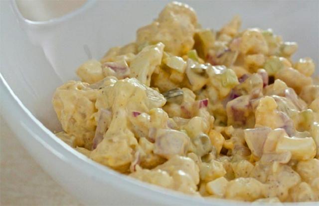 receita de salada de maionese low carb