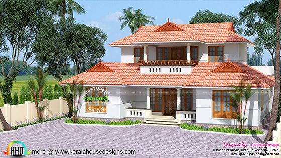 Traditional Kerala roof house
