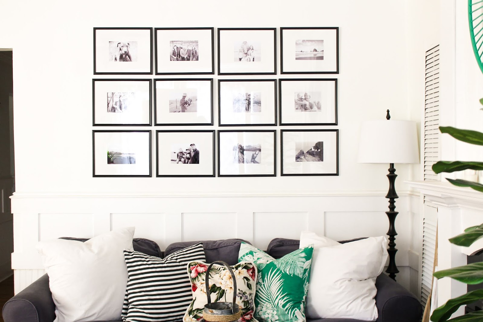 Picture Gallery Wall Using Dollar Store Frames - The Wicker House