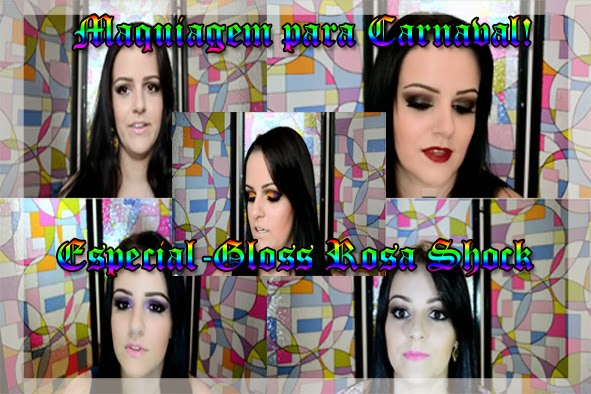 Maquiagem Carnaval - Especial Gloss Rosa Shock