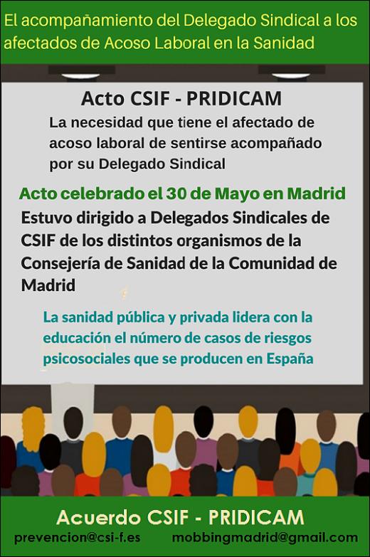 MobbingMadrid El acompañamiento del Delegado Sindical a los afectados de Acoso Laboral en el ámbito sanitario