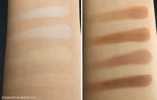 NYX Highlight & Contour Pro Palette review, swatches