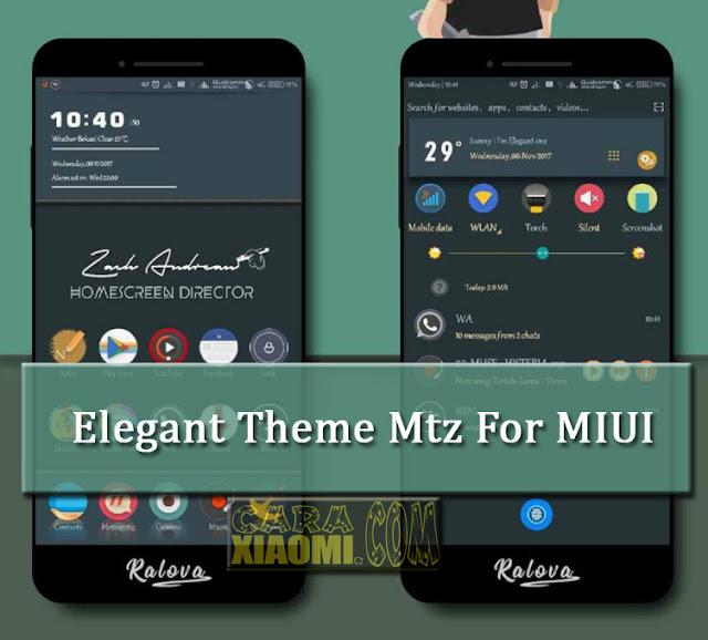 Tema Xiaomi MIUI Elegant Theme Design Mtz by Zach Andrean