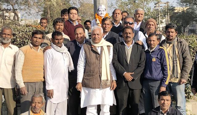 Faridabad former MLA Anand Kaushik remembers former Prime Minister Bharat Ratna Lal Bahadur Shastri