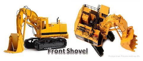 Fungsi Front Shovel Sebagai alat Penggali