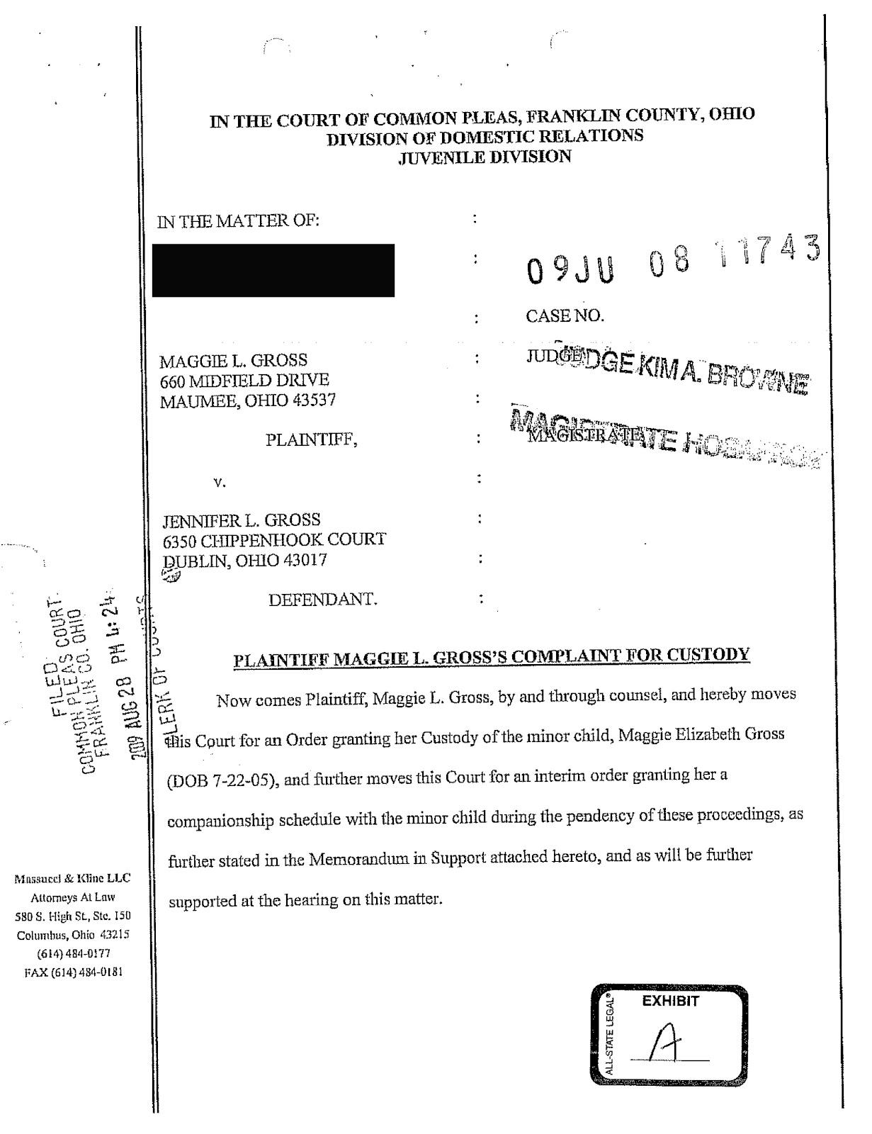Franklin County Juvenile Court Judges disregard Ohio law and