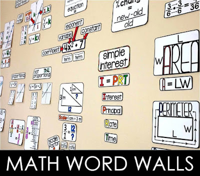 Math word walls | Scaffolded Math and Science