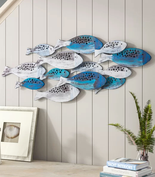 Blue Fish Wall Decor Idea