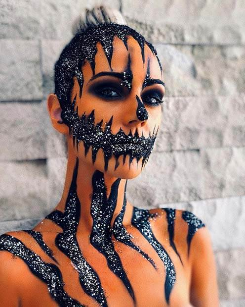 Pumpkins are a traditional Halloween decor and Halloween cannot be complete without Pumpk 20+ Creative DIY Pumpkin Halloween Makeup Styles In 2019